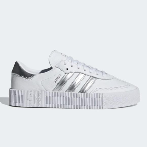 Adidas Sambarose White Silver Metallic